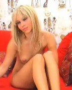 cute blond girl on cam