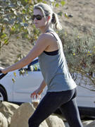 Ali Larter  - booty in tights at Runyon Canyon in Los Angeles 09/25/12
