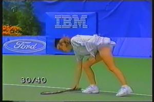 Martina Hingis - Upskirts butt